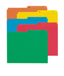Smead Reversible File Folder 10394, 1/2-Cut Printed Tab, Letter, Assorted Colors