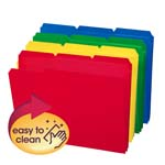 Smead Poly File Folder 10500, 1/3-Cut Tab, Letter, Assorted Colors