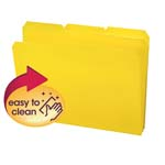 Smead Poly File Folder 10504, 1/3-Cut Tab, Letter, Yellow