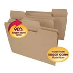 Smead Tree Free SuperTab® File Folder 10751, Oversized 1/3-Cut Tab, Letter, Natural Brown