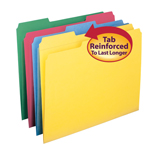 Smead File Folder 11641, Reinforced 1/3-Cut Tab, Letter, Assorted Colors