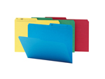 Smead WaterShed®/CutLess® File Folder 11958, 1/2-Cut Tab, Letter, Assorted Colors