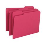 Smead File Folder 12743, 1/3-Cut Tab, Letter, Red