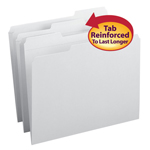 Smead File Folder 12834, Reinforced 1/3-Cut Tab, Letter, White