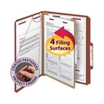 Smead Pressboard Classification Folder with SafeSHIELD® Fasteners 13775, 1 Divider, 2