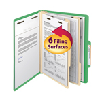 Smead Classification File Folder 14002, Reinforced 2/5-Cut Tab, 2 Dividers, 2