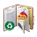 Smead 100% Recycled Pressboard Classification Folder 14024, 2 Dividers, 2