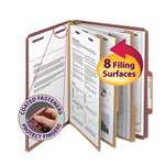 Smead Pressboard Classification Folder with SafeSHIELD® Fasteners 14092, 3 Dividers, 3
