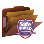 Smead PressGuard® Classification File Folder with SafeSHIELD Fasteners 14205, 2 Dividers, 2