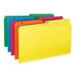 Smead Reversible File Folder 15391, 1/2-Cut Printed Tab, Legal, Assorted Colors