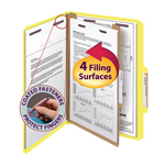 Smead Pressboard Classification Folder with SafeSHIELD® Fasteners 18734, 1 Divider, 2