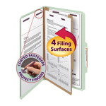 Smead Pressboard Classification Folder with SafeSHIELD® Fasteners 18776, 1 Divider, 2