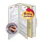 Smead Pressboard Classification Folder with SafeSHIELD® Fasteners 19076, 2 Dividers, 2