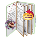 Smead Pressboard Classification Folder with SafeSHIELD® Fasteners 19091, 3 Dividers, 3