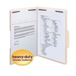 Smead Heavy-Duty Fastener File Folder 19600, 2 Fasteners, 1/3-Cut Tab, Legal, Manila