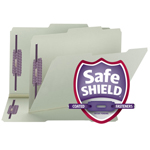 Smead Pressboard Fastener File Folder 19980, 2 Fasteners, 2/5-Cut Tab Right of Center Position, Guide Height, 1
