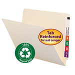 100% Recycled End Tab Folders with Shelf-Master® Reinforced Tabs