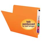 Smead End Tab File Folder 25510, Shelf-Master® Reinforced Straight-Cut Tab, Letter, Orange