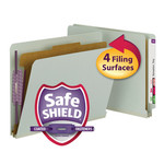 Smead End Tab Pressboard Classification Folder with SafeSHIELD® Fasteners 26800, 1 Divider, 2