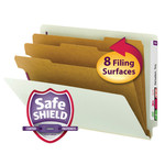 Smead End Tab Pressboard Classification Folder with SafeSHIELD® Fasteners 26820, 3 Dividers, 3