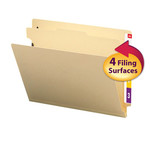 Smead End Tab Classification File Folder 26825, Reinforced Tab, 1 Divider, 2