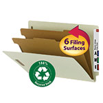 100% Recycled Pressboard End Tab Classification Folder