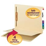 End Tab Fastener Folder with Divider and Shelf-Master® Reinforced Tab