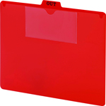 Smead Poly Out Guide Two-Pocket Style 51920, 1/5-Cut Tab Center Position, Guide Height, Letter, Red