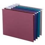 Smead Hanging File Folder with Tab 64056, 1/5-Cut Adjustable Tab, Letter, Assorted Colors