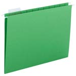Smead Hanging File Folder with Tab 64061, 1/5-Cut Adjustable Tab, Letter, Green