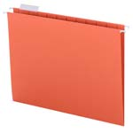 Smead Hanging File Folder with Tab 64065, 1/5-Cut Adjustable Tab, Letter, Orange