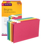 Smead Hanging File Folder with Tab 64159, 1/5-Cut Adjustable Tab, Legal, Assorted Colors