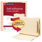 Smead Self-Adhesive Folder Dividers 68025, 1
