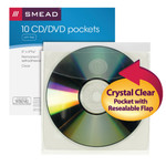 Smead Self-Adhesive Poly CD/DVD Pocket 68144, Security Flap, 5