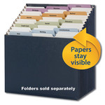 Smead Stadium® File 70208, Alphabetic / Monthly / Daily / Household / Blank Labels, 12 Pockets, Letter, Navy