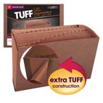 Smead TUFF® Expanding File 70469, Daily (1-31), 31 Pockets, Legal, Redrope-Printed Stock