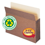 Smead 100% Recycled File Pocket 73205, Straight-Cut Tab, 3-1/2