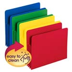 Smead Poly File Pocket 73500, Straight-Cut Tab, 3-1/2