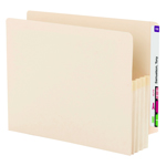Smead End Tab File Pocket 75124, Reinforced Straight-Cut Tab, 3-1/2