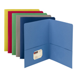 Smead Two-Pocket Heavyweight Folder 87850, Up to 100 Sheets, Letter, Assorted Colors