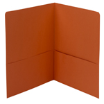Smead Two-Pocket Heavyweight Folder 87858, Up to 100 Sheets, Letter, Orange
