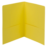 Smead Two-Pocket Heavyweight Folder 87862, Up to 100 Sheets, Letter, Yellow