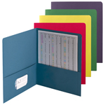 Smead Economy Two-Pocket File Folder 87863, Up to 100 Sheets, Letter, Assorted Colors