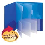 10 Pocket Poly Subject File Folder 89203, Letter, Assorted Colors