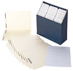 Stadium® File with Fastener Folder and Viewables Labels Kit
