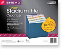 Stadium File® - tiered for easy viewing